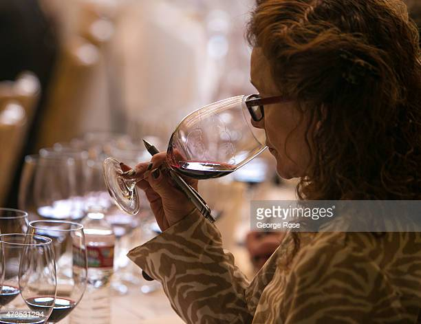 A tasting of Napa Valley cabernet sauvignon wines is conducted at Robert Mondavi Winery on May 7 in Oakville California Despite a drought that is in...