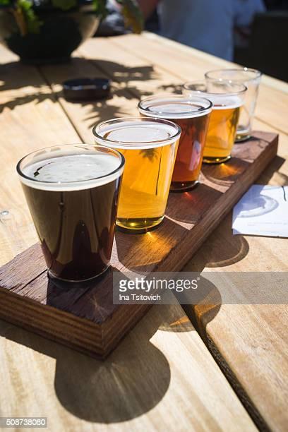 Tasting set of crafted beers