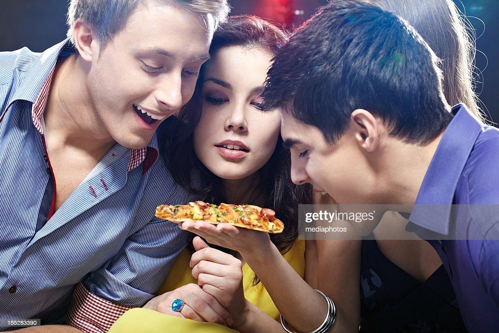Tasty piece of pizza : Stock Photo