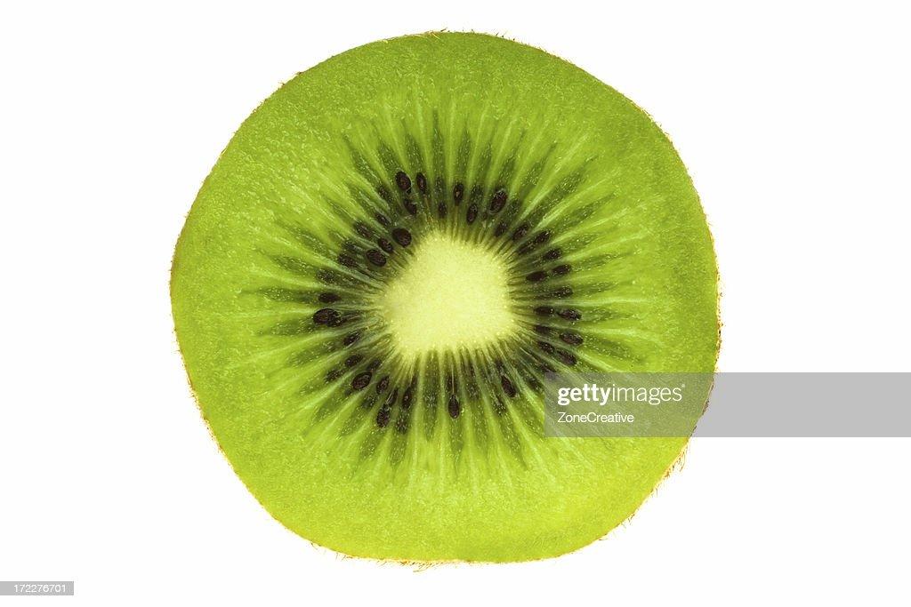 tasty ripe green isolated kiwi
