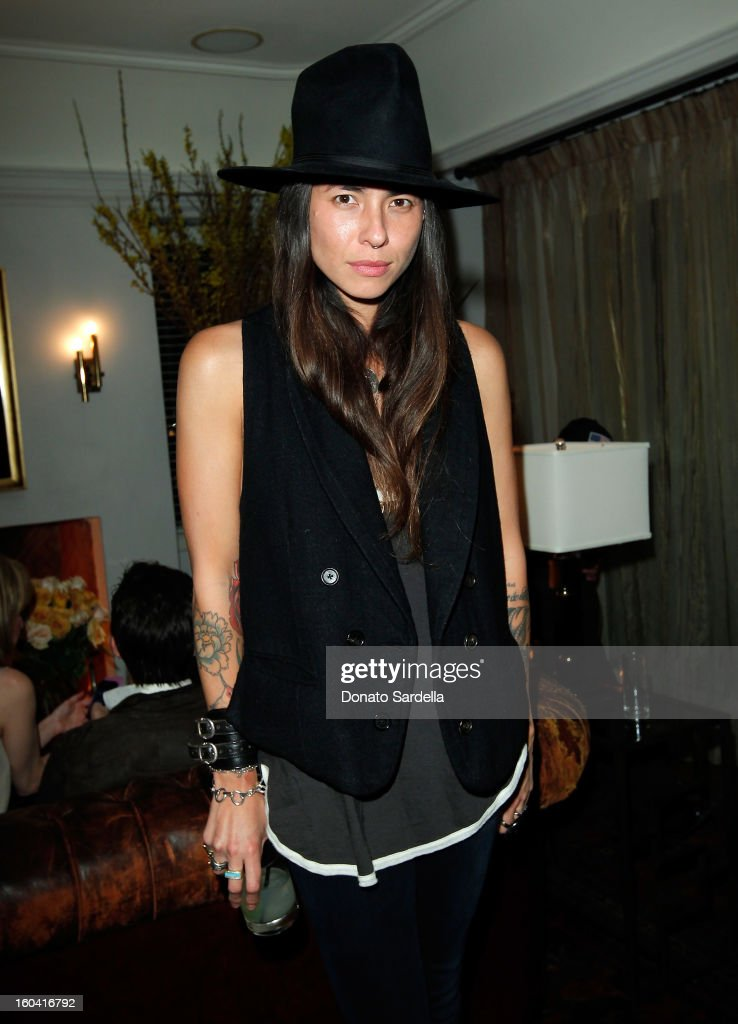 Tasya van Ree attends Hoorsenbuhs for Forevermark Collection cocktail party at Chateau Marmont on January 30, 2013 in Los Angeles, California.
