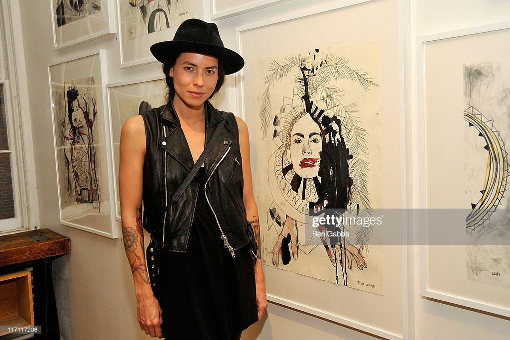 Artist Tasya Van Ree attends Tasya Van Rees private
