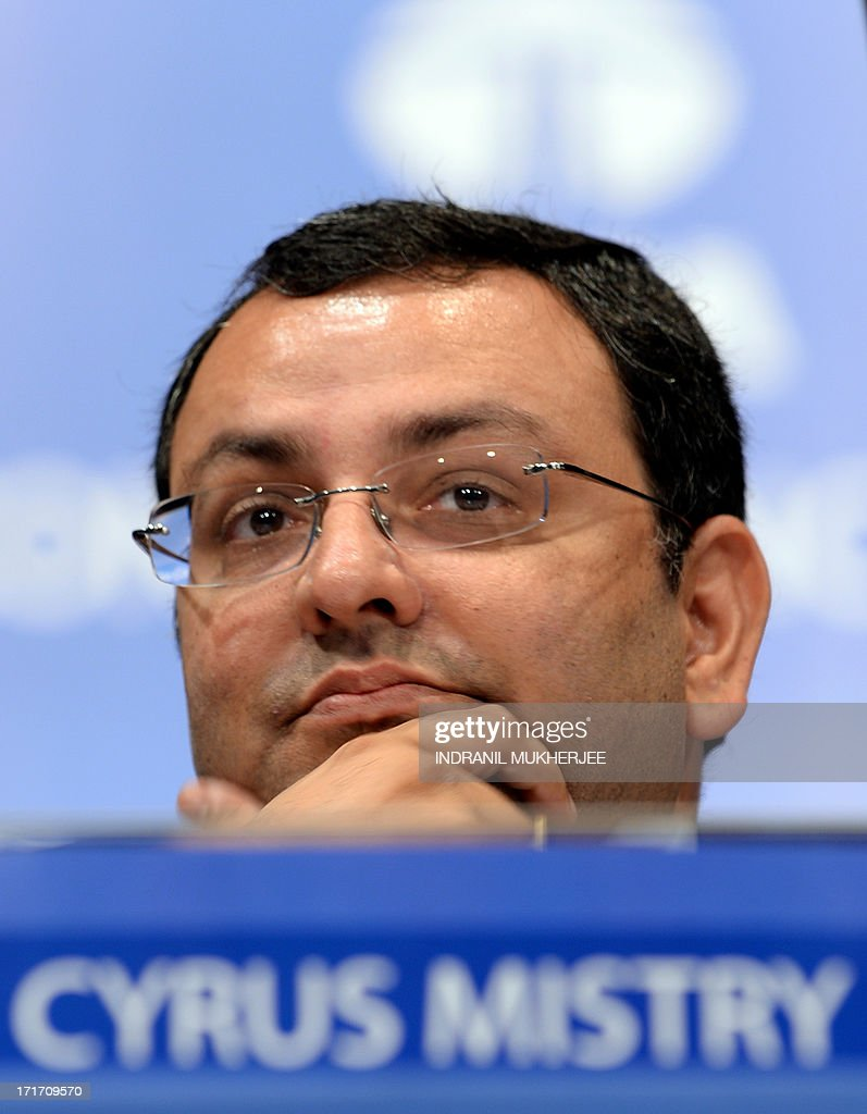 Tata Group chairman, Cyrus Mistry looks on prior to the start of the 9th Annual General Meeting of Tata Consultancy Services in Mumbai on June 28, 2013. India's biggest IT outsourcing firm, Tata Consultancy Services, popularly known as TCS and part of the steel-to-tea Tata conglomerate, counts blue-chip companies such as British Airways, Microsoft and Sony among its main clients.
