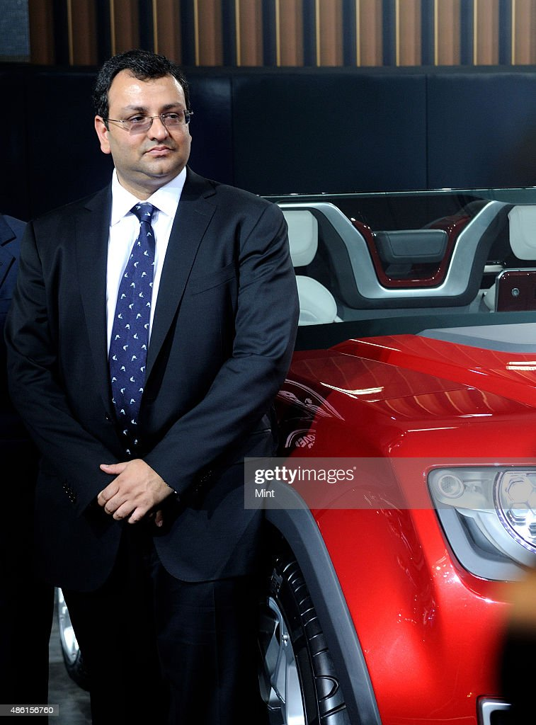 Tata Group Chairman designate <a gi-track='captionPersonalityLinkClicked' href=/galleries/search?phrase=Cyrus+Mistry&family=editorial&specificpeople=8705051 ng-click='$event.stopPropagation()'>Cyrus Mistry</a> during the launch of the Land Rover at the Auto Expo 2012 on January 6, 2012 in Greater Noida, India.