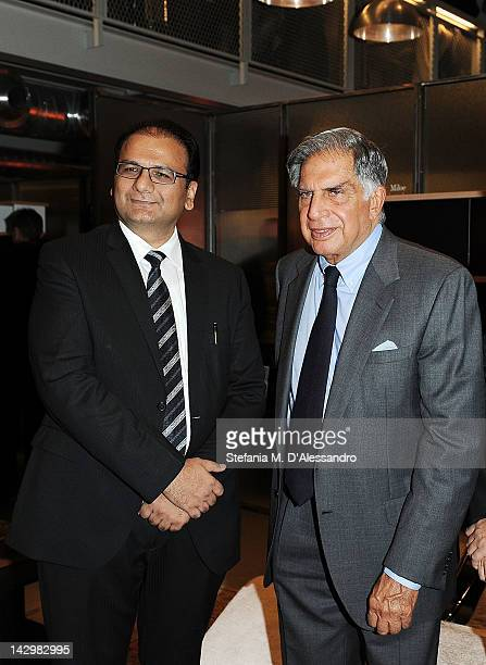 Tata Group President Ratan Tata attends Poltrona Frau Group Party held at Fondazione Pomodoro as part of 2012 Milan Design Week on April 16 2012 in...