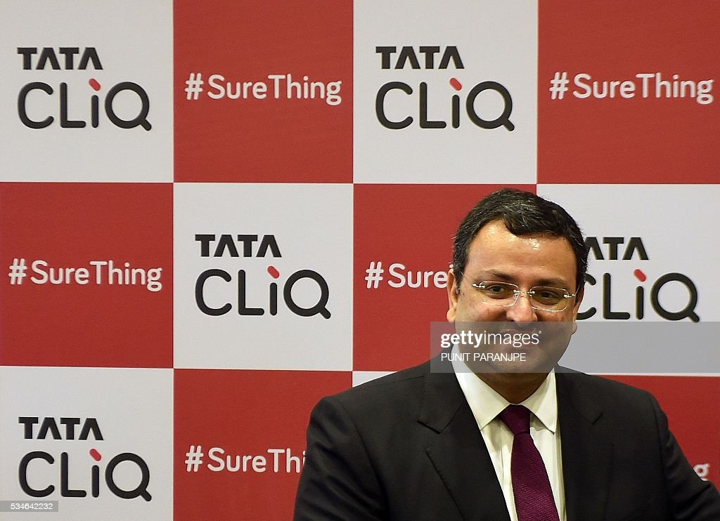 Tata Sons Chairman Cyrus Mistry poses for a photograph during the launch of the 'Cliq' online store in Mumbai on May 27, 2016. India's Tata Group has launched a shopping website to target the country's growing online shoppers. / AFP / PUNIT