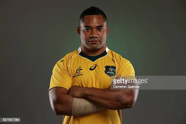 Tatafu PolotaNau of the Wallabies poses during an Australian Wallabies portrait session on May 30 2016 in Sunshine Coast Australia