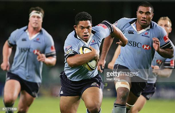 Tatafu PolotaNau of the Waratahs in action during the round seven Super 14 match between the NSW Waratahs and the Blues at Aussie Stadium March 24...