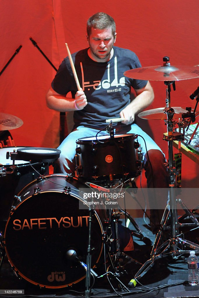 Tate Cunningham of Safetysuit performs at the Louisville Palace on March 31, 2012 in Louisville, Kentucky.