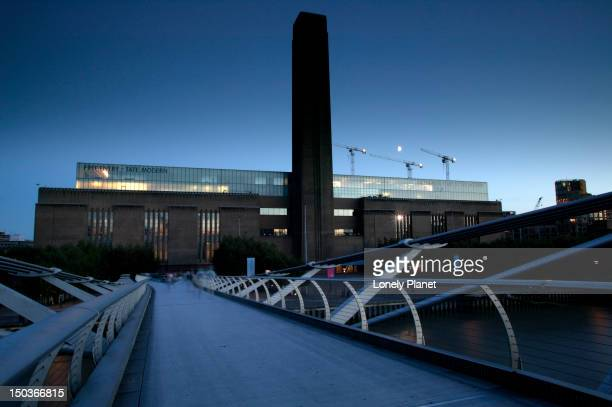 Tate Modern and Millenium Bridge.