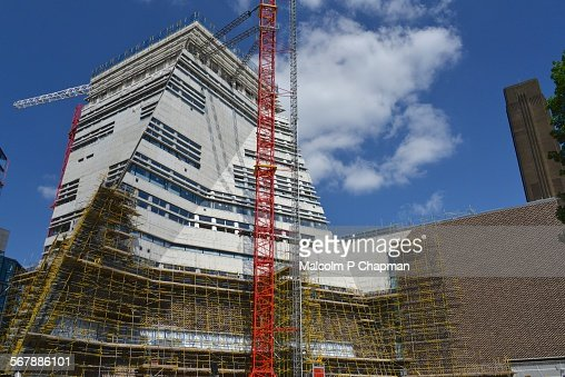 Tate Modern extension, London, UK : Stock Photo
