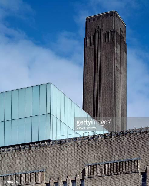 Tate Modern London United Kingdom Architect Herzog De Meuron Tate Modern London Se1 9Tg Herzog And De Meuron April 2000 Exterior Portrait Detail With...