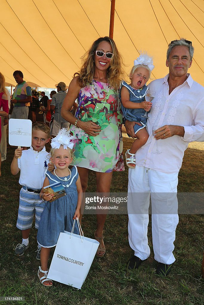Tatiana and Campion Platt attend the opening day of the Bridgehampton Polo Club's 17th Season at the Bridgehampton Polo Club on July 20, 2013 in Bridgehampton, New York.