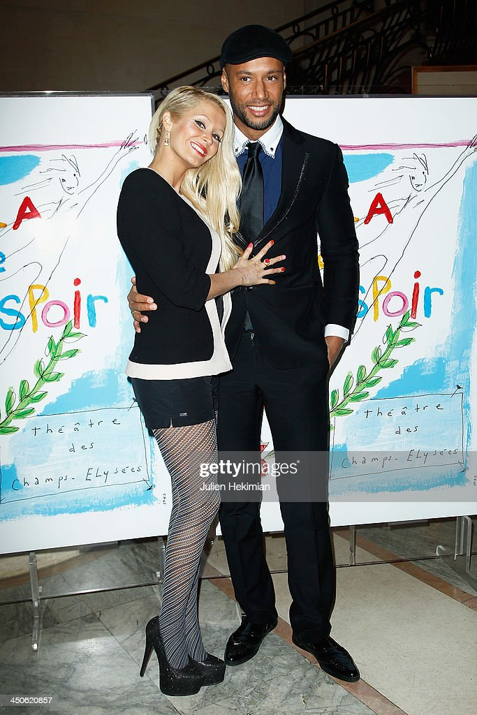 Tatiana and Xavier Delarue attend the 'Gala de l'Espoir' hosts by the Ligue Contre Le Cancer at Theatre des Champs-Elysees on November 19, 2013 in Paris, France.