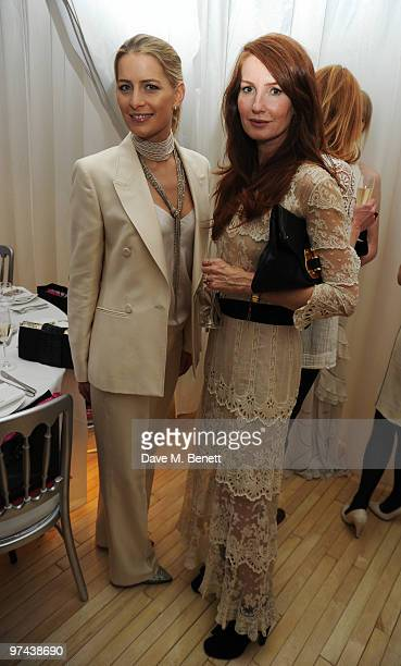 Tatiana Blatnik and Angela Dunn attend the private dinner for the White Ribbon Alliance's Global Dinner Party Campaign at Agua in the Sanderson Hotel...