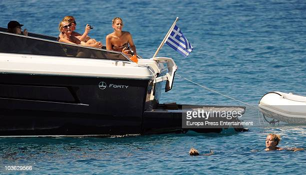 Tatiana Blatnik and MarieBlanche Billembourg sighting on August 24 2010 in Spetses Greece
