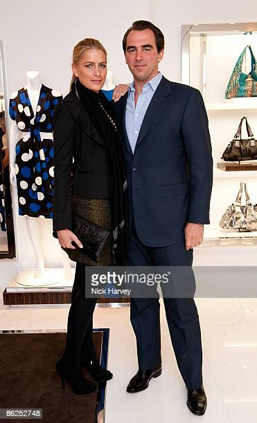 Tatiana Blatnik and Prince Nikolas of Greece attend the launch of the Michael Kors flagship store on April 27 2009 in London England