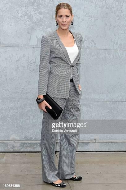 Tatiana Blatnik attends the Giorgio Armani fashion show during Milan Fashion Week Womenswear Fall/Winter 2013/14 on February 25 2013 in Milan Italy