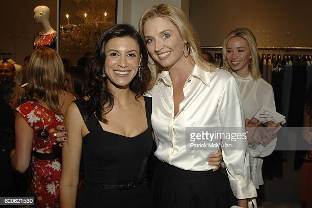 Tatiana Boncompagni and Laurie Dhue attend VOGUE and ELIE TAHARI host cocktails to celebrate TATIANA BONCOMPAGNI's new book GILDING LILY at Elie...