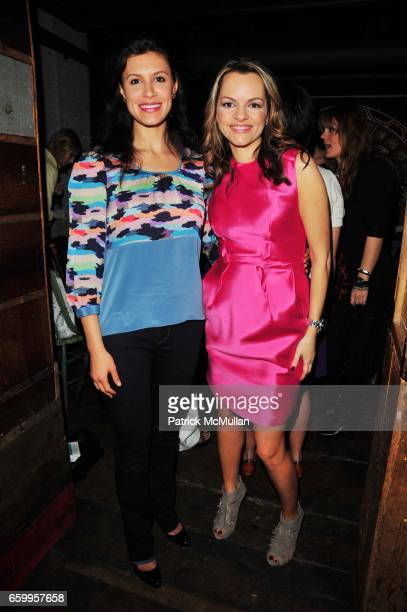 Tatiana Boncompagni and Maria Hatzistefanis attend RODIAL SKINCARE Celebration at La Esquina NYC on May 18 2009