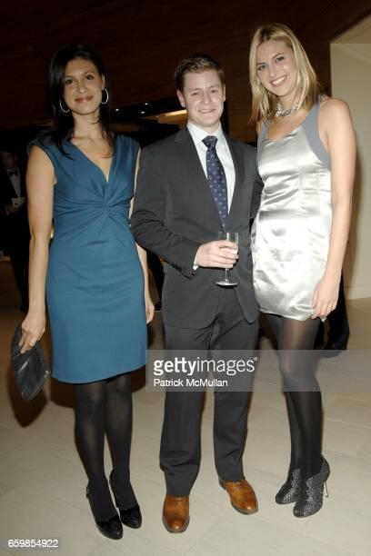 Tatiana Boncompagni Kipton Cronkite and Genevieve Bahrenberg attend 2010 KiptonART Rising Finalists Party hosted by SAKS Longchamp and the New York...
