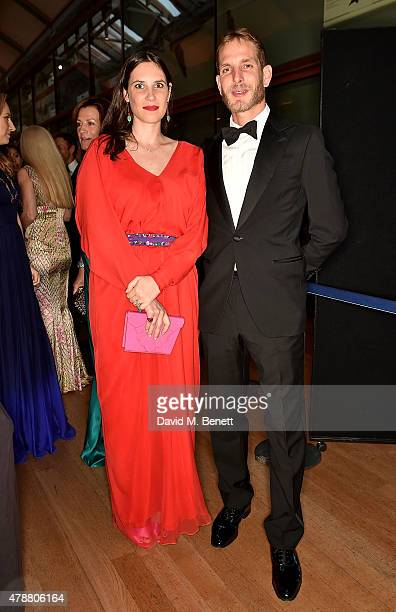 Tatiana Casiraghi and Stefano Casiraghi at the inaugural Walkabout Foundation gala drinks by Boujis London at Natural History Museum on June 27 2015...
