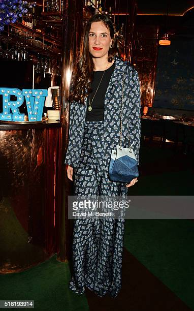 Tatiana Casiraghi attends a dinner hosted by Roger Vivier to celebrate the Prismick Denim collection by Camille Seydoux at Casa Cruz on March 17 2016...