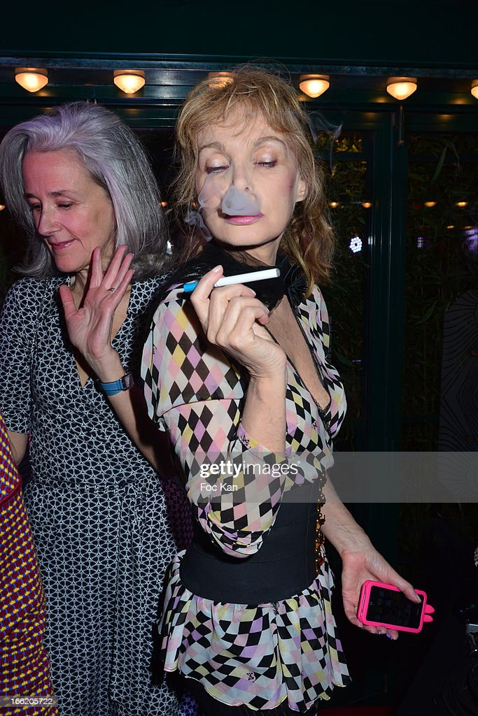 Tatiana de Rosnay and Arielle Dombasle attend La Closerie Ses Lilas Literary Awards 2013 - 6th Edition At La Closerie Des Lilas on April 9, 2013 in Paris, France.