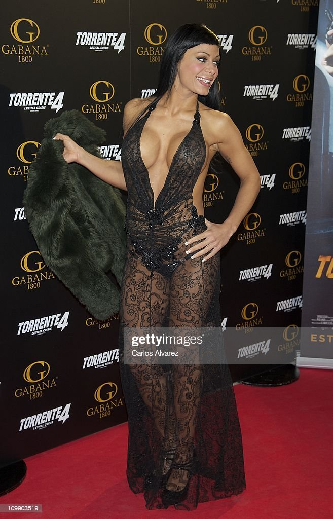 Tatiana Delgado attends 'Torrente 4' premiere at the Capitol cinema on March 9, 2011 in Madrid, Spain.