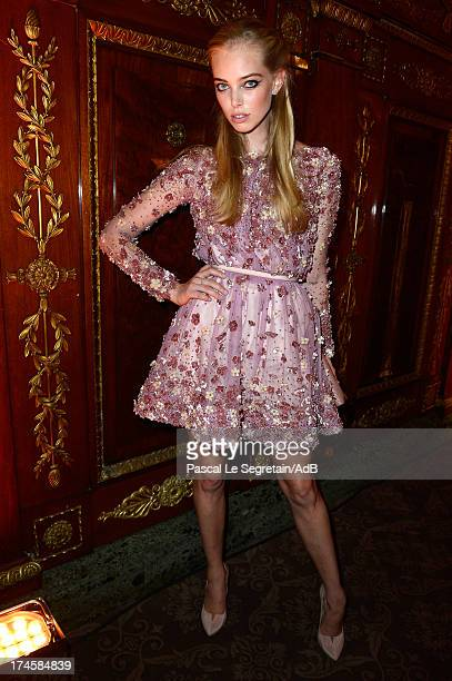 Tatiana Dyagileva attends the dinner at 'Love Ball' hosted by Natalia Vodianova in support of The Naked Heart Foundation at Opera Garnier on July 27...