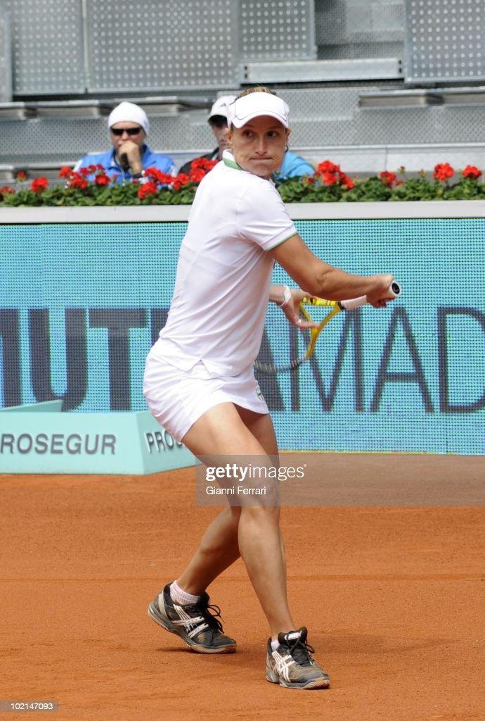 Tatiana Gabin, ITA, in the tennis 'Mutua Madrilena Madrid Open', 8th May 2010 , 'La Caja Magica', Madrid, Spain.