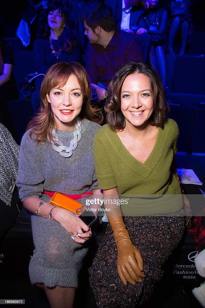 Tatiana Gevorkyan and Kseniya Chilingarova attends the Ruban show on day 6 of Mercedes-Benz Fashion Week S/S 14 on October 30, 2013 in Moscow, Russia.