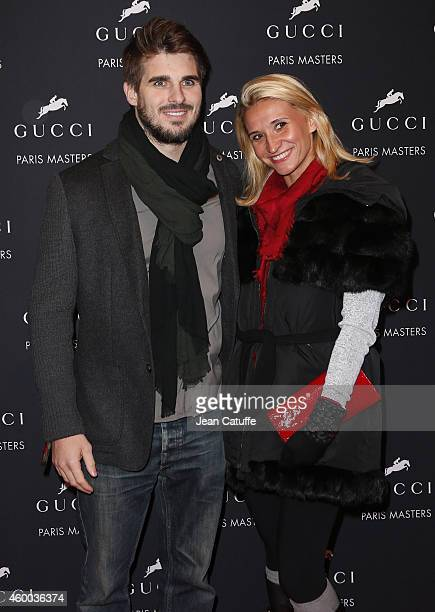 Tatiana Golovin and boyfriend Hugo Bonneval attend day 2 of the Gucci Paris Masters 2014 at Parc des Expositions on December 5 2014 in Villepinte...