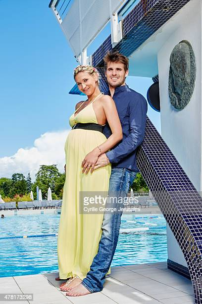 Tatiana Golovin and Hugo Bonneval are photographed for Gala on May 20 2015 in Paris France