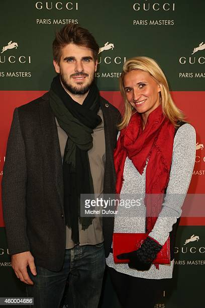 Tatiana Golovine and guest attend the Gucci Paris master Day 2 on December 5 2014 in Villepinte France