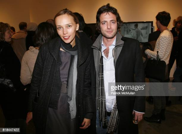 Tatiana Kamneva and Ohad Maiman attend ERWIN OLAF Opening Reception at Hasted Hunt Kraeutler on January 28 2010 in New York