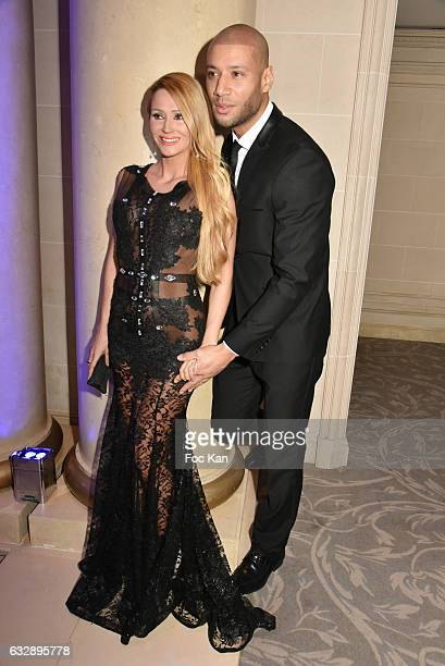 Tatiana Laurens Delarue and Xavier Delarue attend 'The Best Award Gala 40th Edition' at Four Seasons George V Hotel on January 27 2017 in Paris France