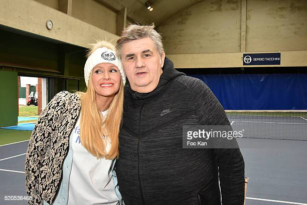 Tatiana Laurens DelarueÊand Pierre Menes attend 'Enfant Star et Match' at Tennis Club de Paris on April 11 2015 in Paris France