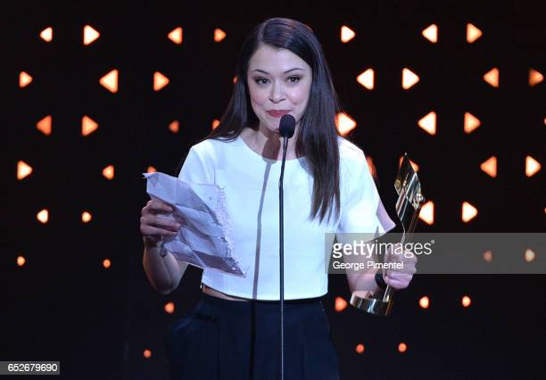 Tatiana Maslany at the 2017 Canadian Screen Awards at Sony Centre For Performing Arts on March 12 2017 in Toronto Canada