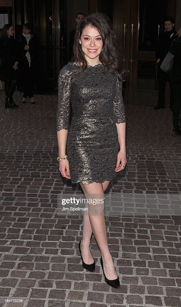 Tatiana Maslany attends The Cinema Society & Jaeger-LeCoultre screening of Open Road Films' 'The Host' at Tribeca Grand Hotel on March 27, 2013 in New York City.