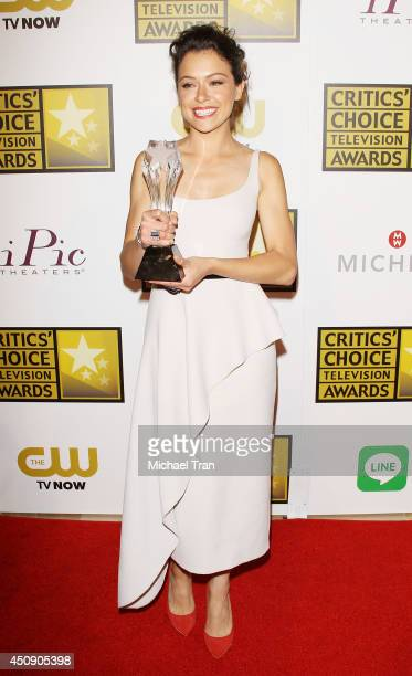 Tatiana Maslany attends the press room at the 4th Annual Critics' Choice Television Awards held at The Beverly Hilton Hotel on June 19 2014 in...