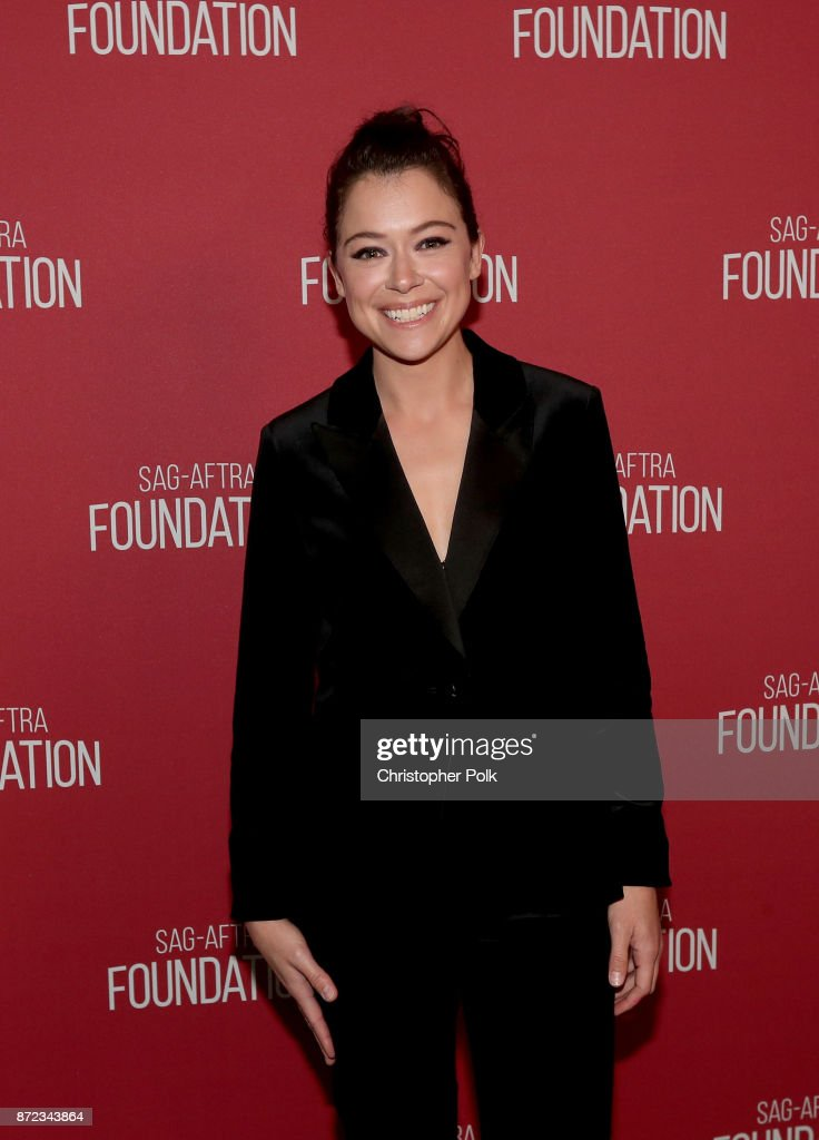 Tatiana Maslany attends the SAG-AFTRA Foundation Patron of the Artists Awards 2017 at the Wallis Annenberg Center for the Performing Arts on November 9, 2017 in Beverly Hills, California.