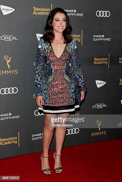 Tatiana Maslany attends the Television Academy reception for Emmy Nominees at Pacific Design Center on September 16 2016 in West Hollywood California