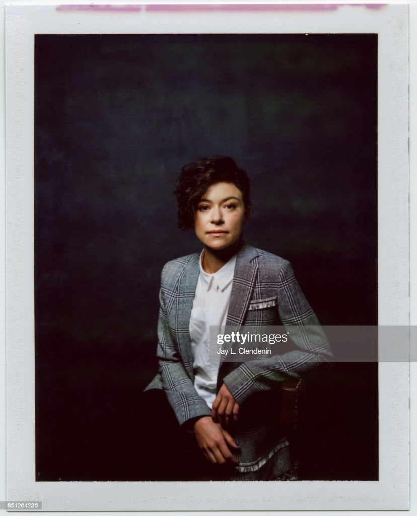 Tatiana Maslany, from the film 'Stronger,' is photographed on polaroid film at the L.A. Times HQ at the 42nd Toronto International Film Festival, in Toronto, Ontario, Canada, on September 08, 2017.