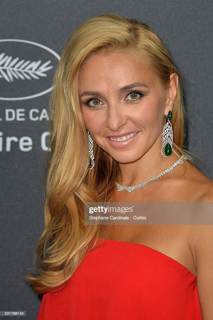<a gi-track='captionPersonalityLinkClicked' href=/galleries/search?phrase=Tatiana+Navka&family=editorial&specificpeople=215488 ng-click='$event.stopPropagation()'>Tatiana Navka</a> attends Chopard party red carpet the 69th annual Cannes Film Festival at on May 16, 2016 in Cannes, France.