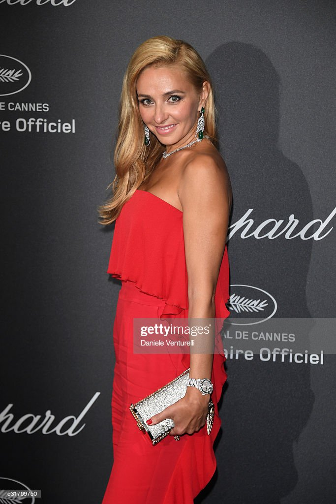 <a gi-track='captionPersonalityLinkClicked' href=/galleries/search?phrase=Tatiana+Navka&family=editorial&specificpeople=215488 ng-click='$event.stopPropagation()'>Tatiana Navka</a> attends Chopard Wild Party as part of The 69th Annual Cannes Film Festival at Port Canto on May 16, 2016 in Cannes, France.