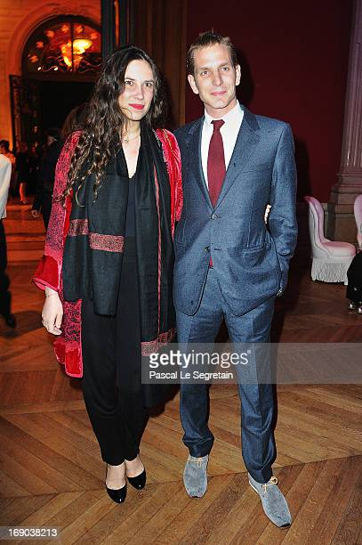 Tatiana Santo Domingo and Andrea Casiraghi attend the Dior Cruise Collection 2014 cocktail on May 18 2013 in Monaco Monaco