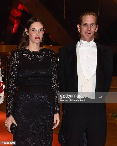 Tatiana Santo Domingo and Andrea Casiraghi attend the Monaco National Day Gala at Grimaldi Forum on November 19 2014 in Monaco Monaco