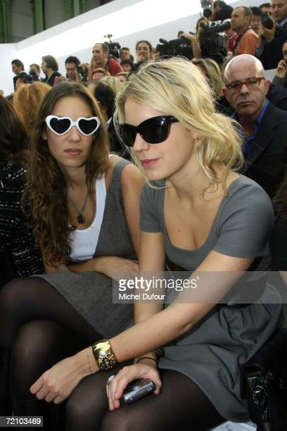 Tatiana Santo Domingo and Eugenia Niarchos attend the Chanel Fashion Show as part of Paris Fashion Week Spring/Summer 2007 on October 6 2006 in Paris...
