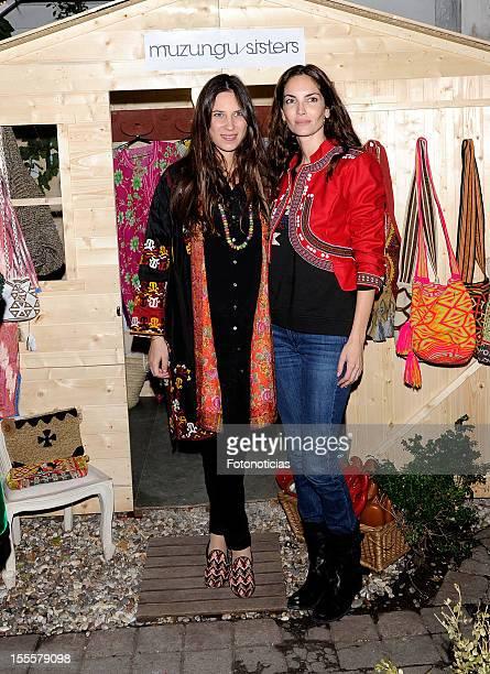 Tatiana Santo Domingo and Eugenia Silva attend the Mugunzu Sisters presentation at Federica Co store on November 5 2012 in Madrid Spain
